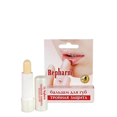 Бальзам для губ «ТРОЙНАЯ ЗАЩИТА» противовирусный с гиалуронатом натрия